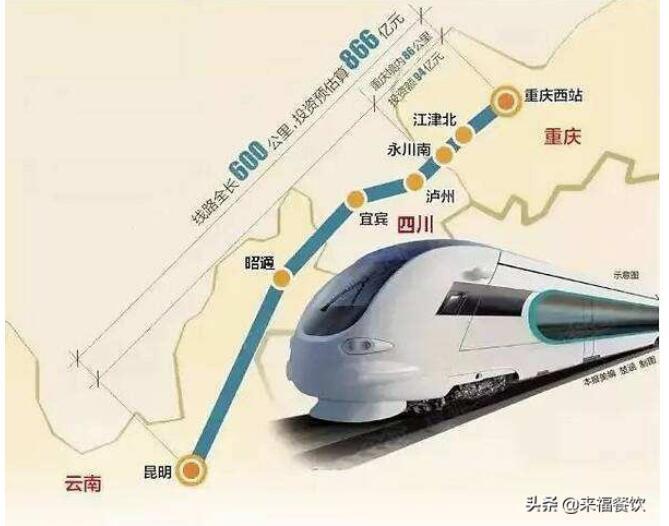 渝昆高铁计划今年10月全线开工,预计 2025年底建成使用